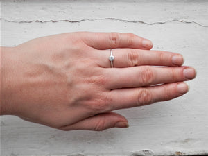 really skinny ring, silver disc ring, perfect rings for stacking