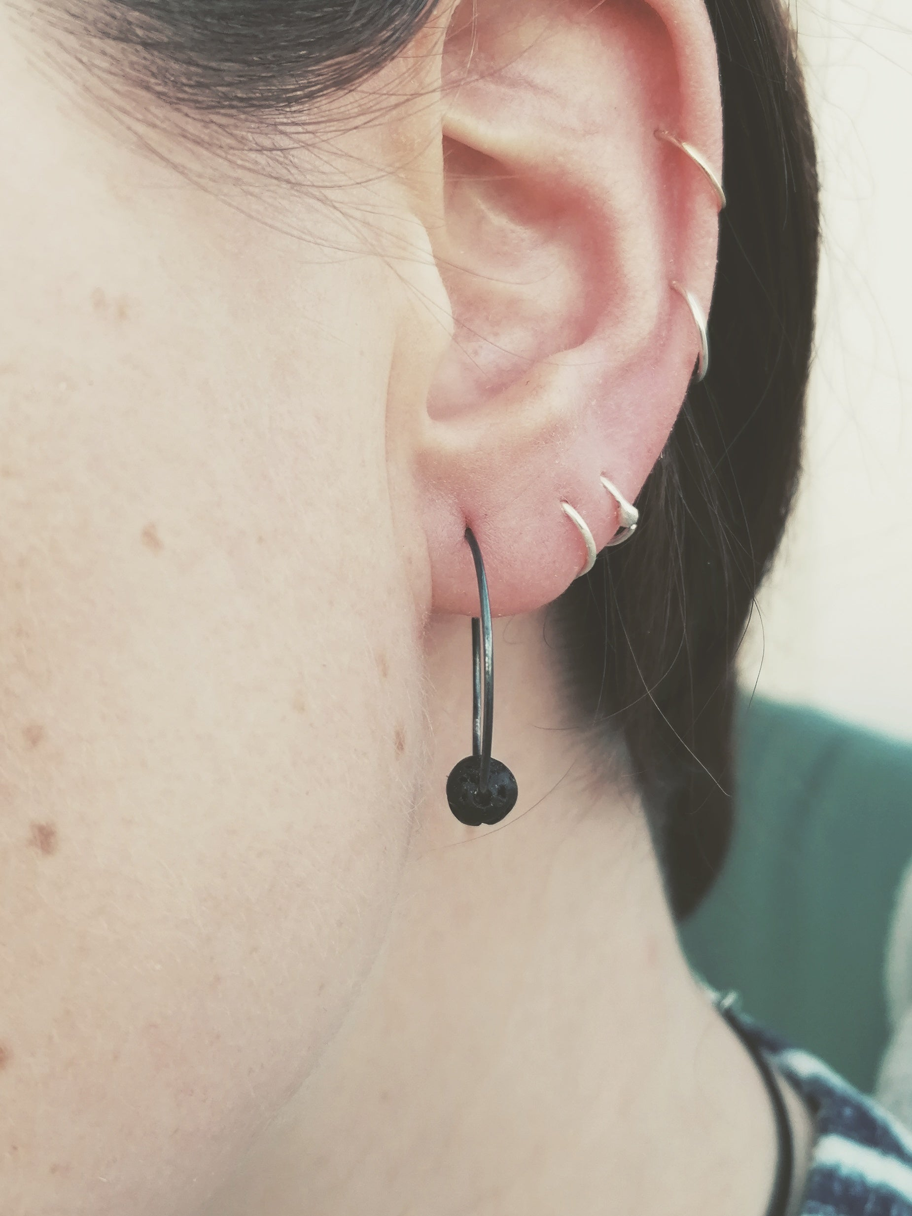 Little black lava hoops