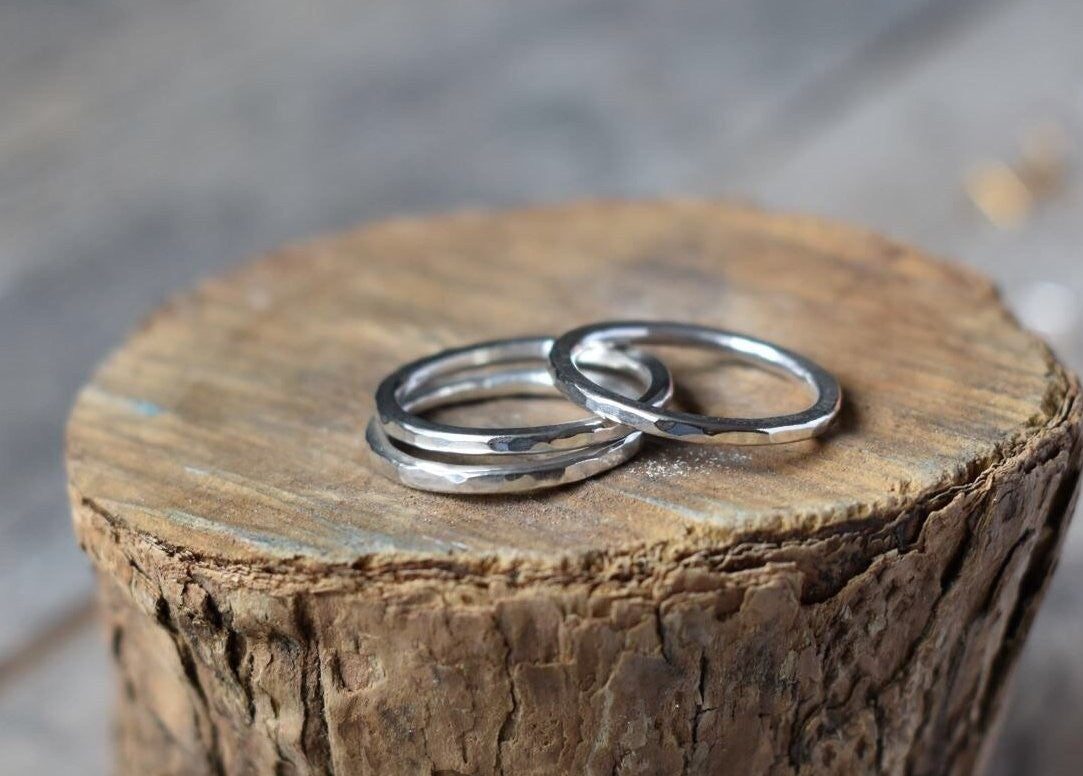Hammered Ring, Sterling Silver