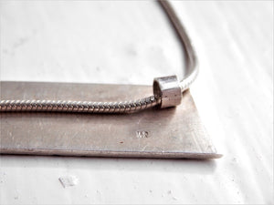 sterling silver, snake chain, stamped jewellery, made in ireland