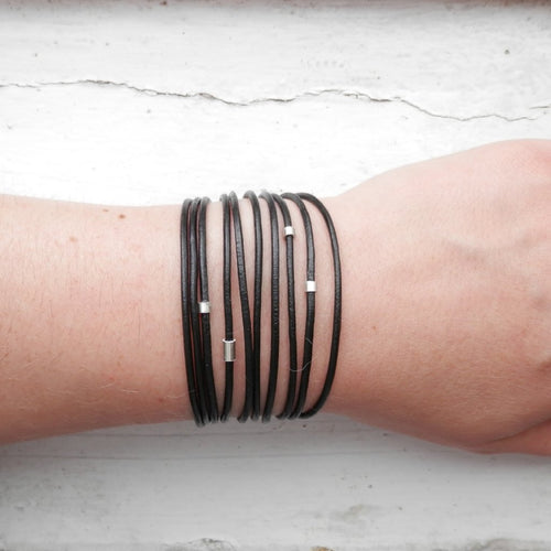 The Most Unlikely Places Wrap Bracelet in Black