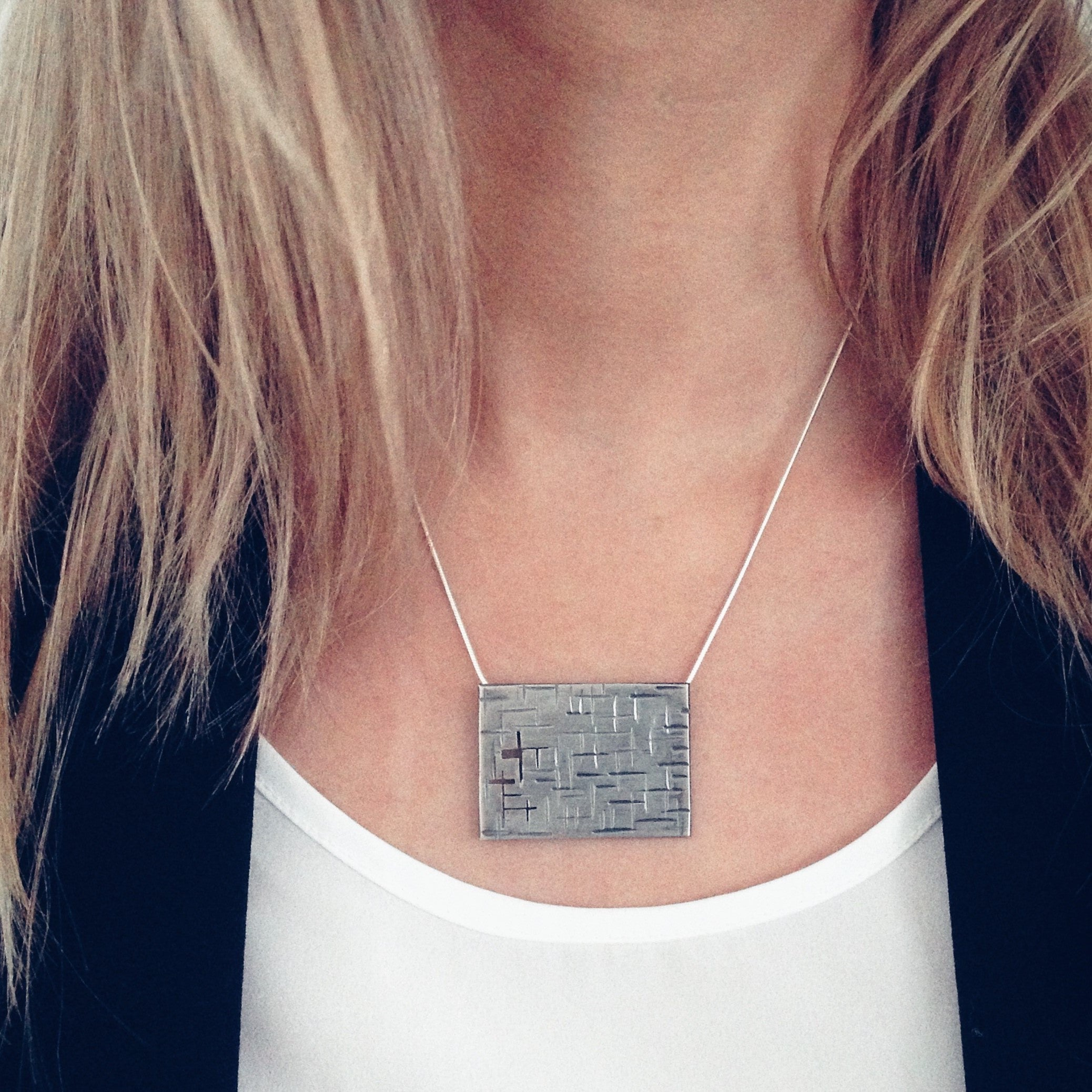 A Maze In Square Necklace