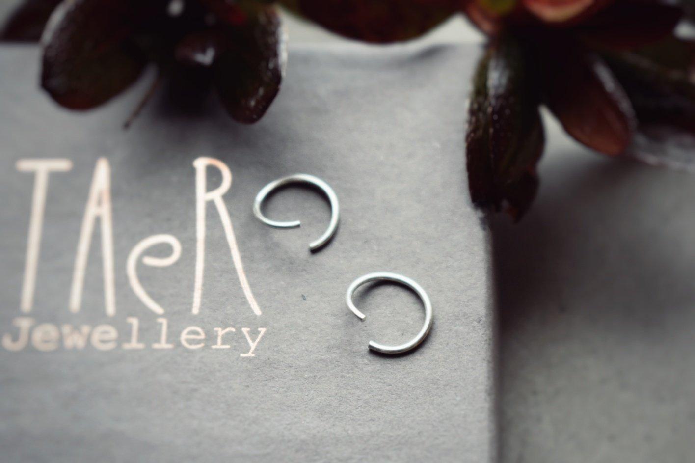 Silver and Oxidised Silver Ear Hugs, 8mm