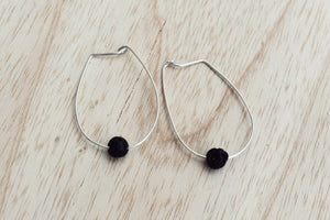 Oval Hoops with Black Lava