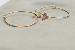 Large Gold Triangle Hoops
