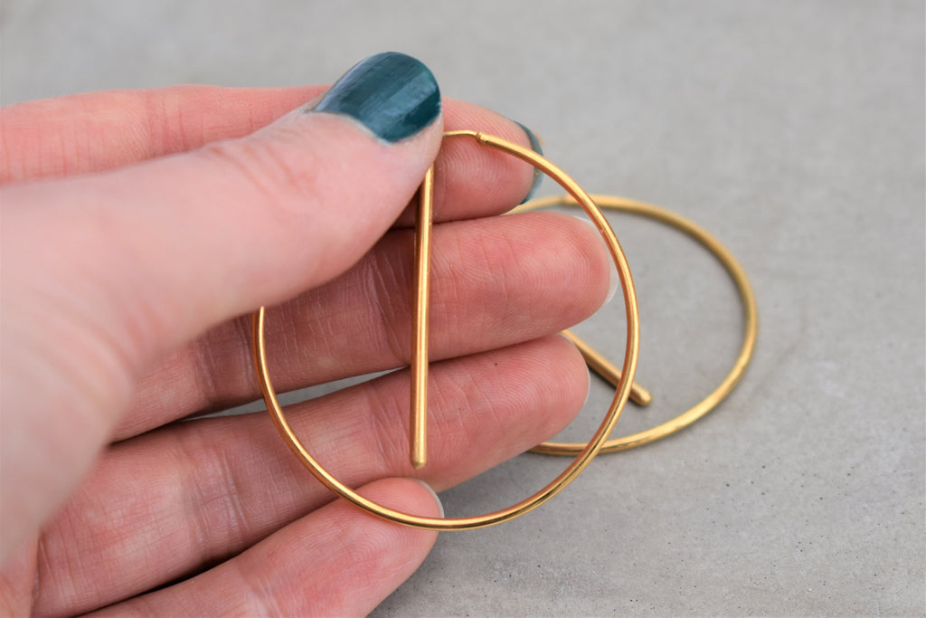 The Most Unlikely Places Small Jacket Hoops in Gold