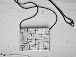 urban style necklace, street fashion, angular jewellery, masculine jewelry, handmade