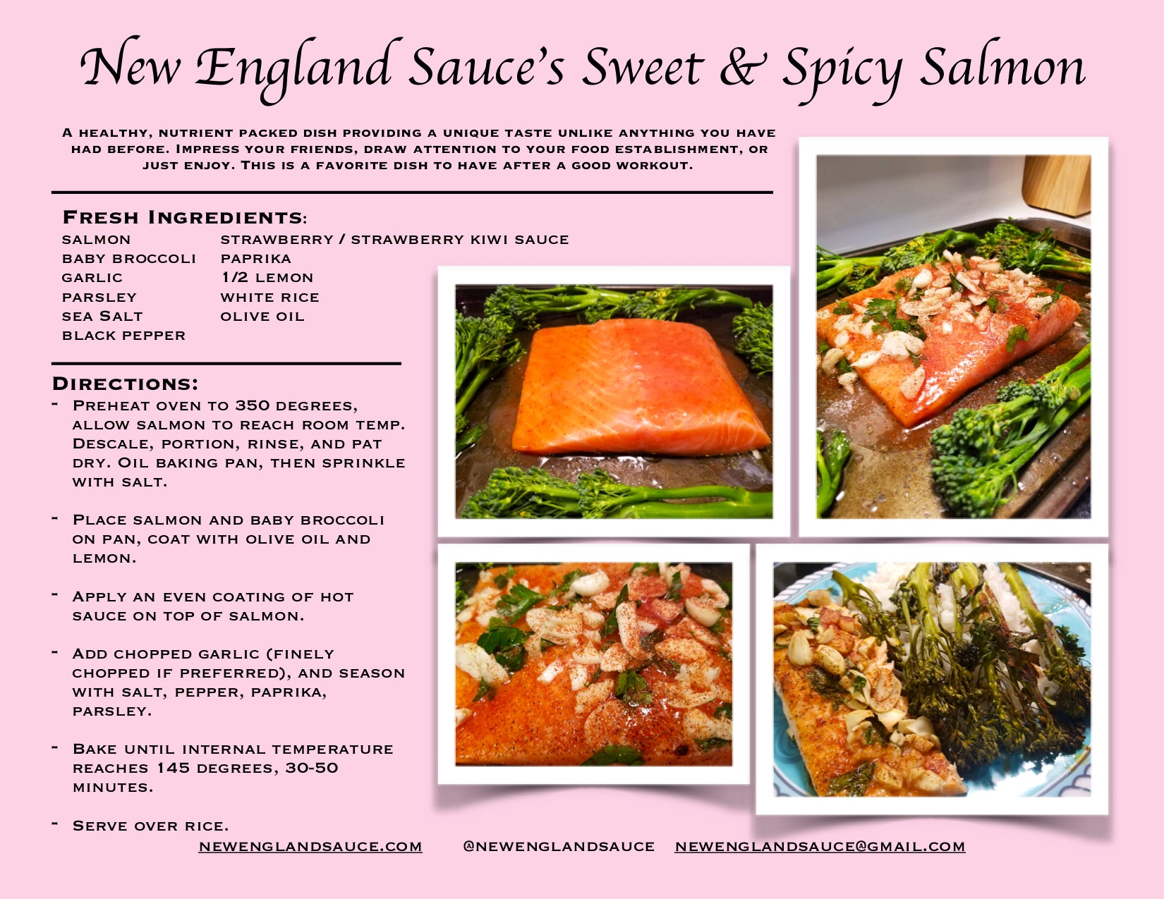 New England Sauce's Sweet and Spicy Salmon Recipe