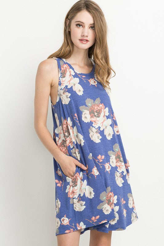 Royal Floral Sun Dress