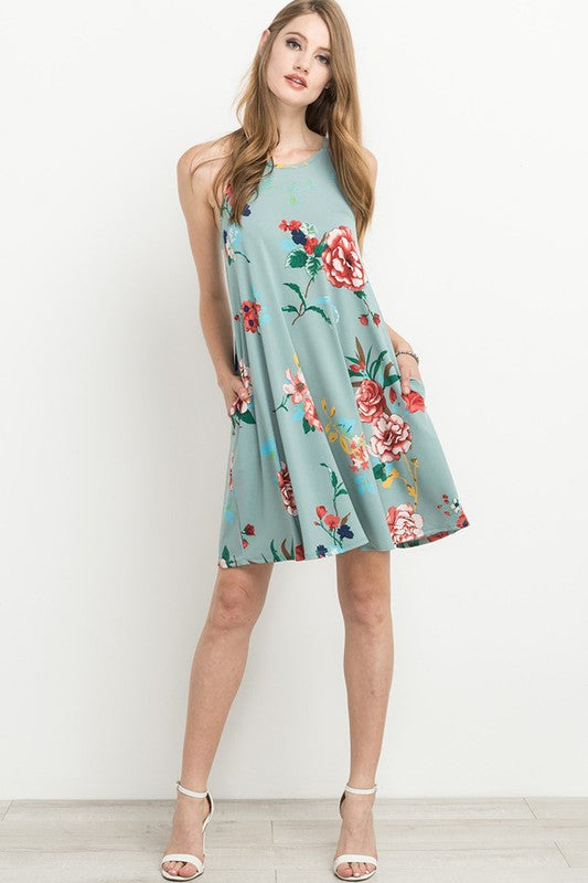 Sage Keyhole Dress