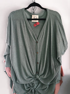 Pastel Green Thermal Top