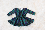 Amaris Baby girl Green Plaid Dress
