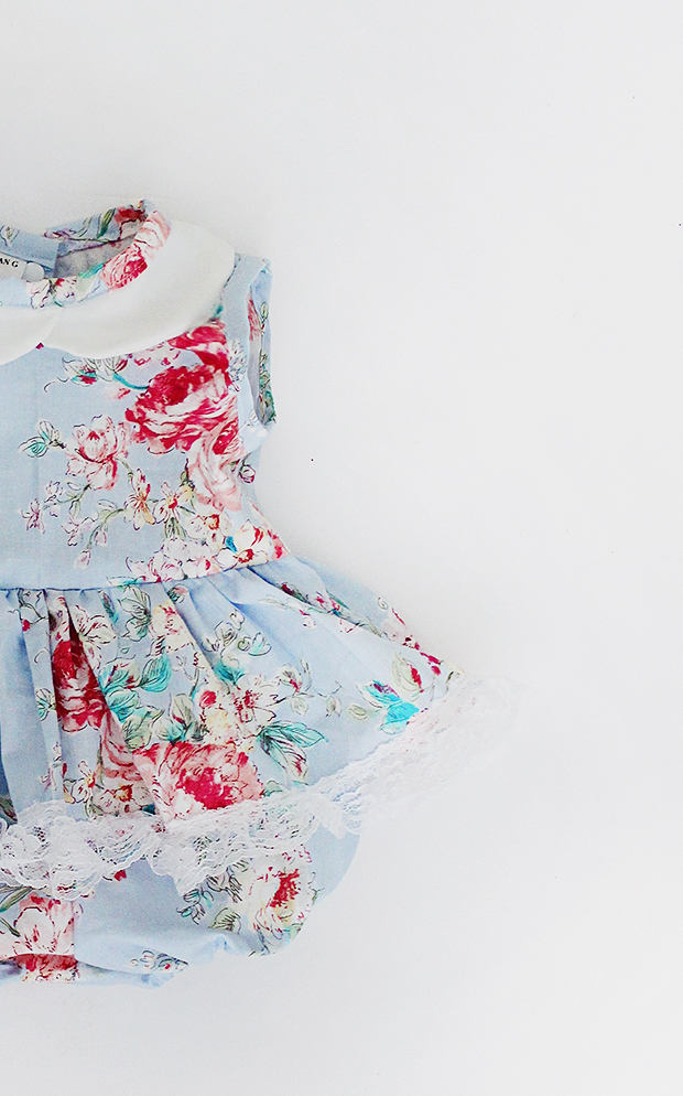 Sierra blue floral dress