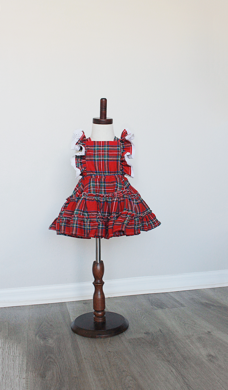 Girl Red Plaid Dress