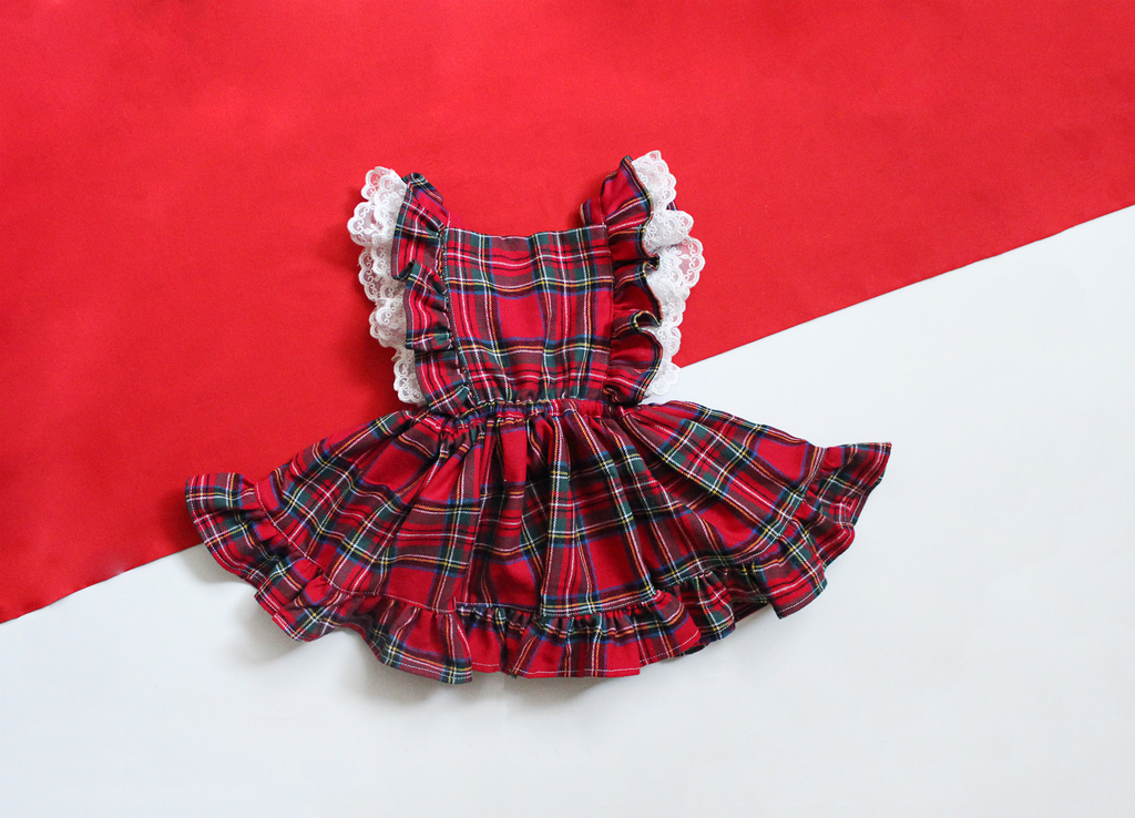 Red Plaid Pinafore