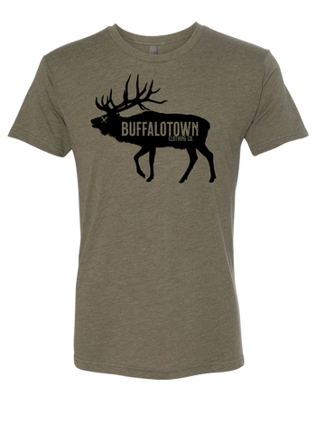 Buffalotown Elk Military Green Triblend