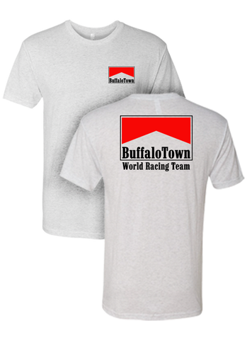 Buffalotown Racing Heather White Triblend