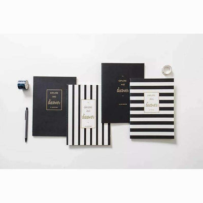 Black and White Planner, Journal Notebook