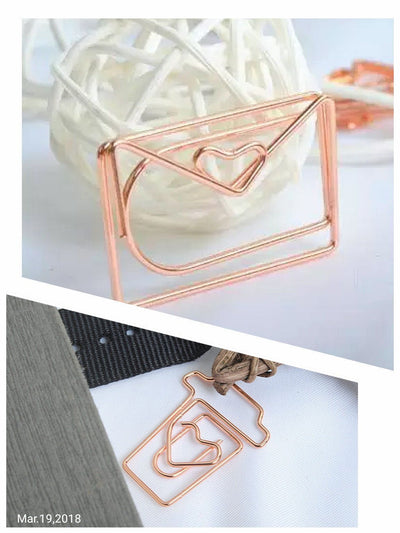 Rose Gold Paper Clip Coffee Paper Clip Envelope Paper Clip Love Paper Clip - My Teacher's Cupboard