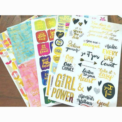 Bullet Journal Stickers, Planner Stickers - My Teacher's Cupboard