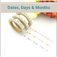 Skinny Washi Tape Sets, Gold Foil, Weekday, Numbers, Months Washi Tapes - My Teacher's Cupboard