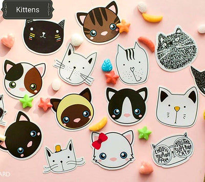 Cat Stickers, Kitten Stickers - My Teacher's Cupboard