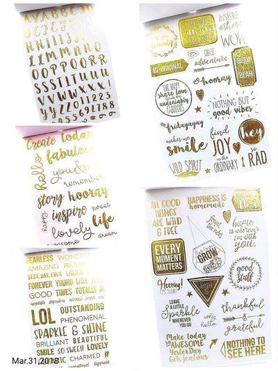 Gold Foil Stickers Planner Stickers Card Making - My Teacher's Cupboard