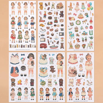 Paper Doll Stickers, Girl Stickers - My Teacher's Cupboard