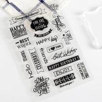 Planner Stamps, Clear Rubber Stamps Sheet - My Teacher's Cupboard