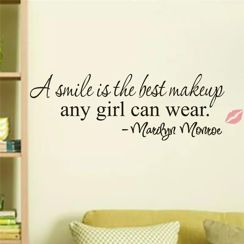 Marilyn Monroe Quotes; Vinyl Wall Decals; Wall Stickers ...