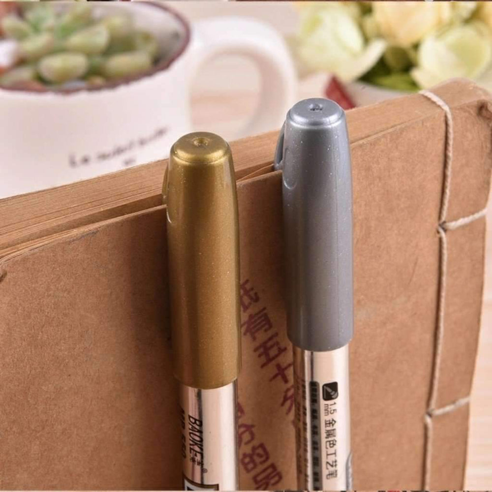 Metallic Brush Marker Pens, Gold Metallic Markers, Silver Metallic Markers - My Teacher's Cupboard