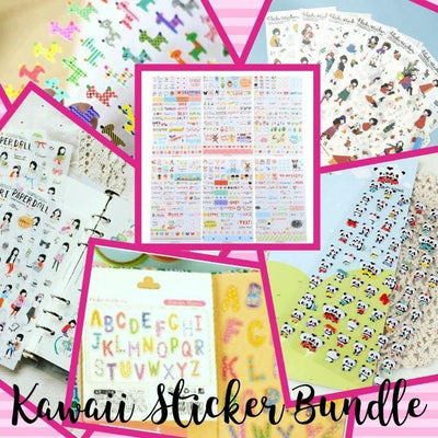 Sticker Bundle, Kawaii Grab Bags - My Teacher's Cupboard