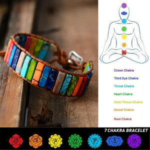 Handmade 7 Chakra Healing Leather Wrap