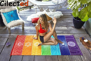 7 Chakra Yoga/Meditation Beach Blanket