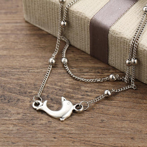 Dolphin Double Layered Anklet