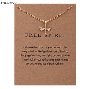 """Free Spirit"" Dragonfly Pendant Necklace"