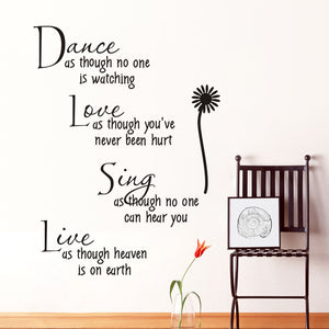 """Dance As Though"" Wall Decal"