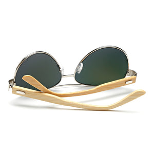Aviator Frame w/ Natural Bamboo Arms