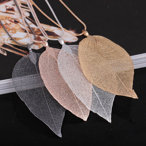 Natural Leaf Necklace