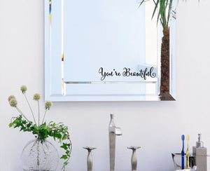 """You Are Beautiful"" Wall Decal"