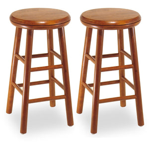 Oakley 25 Swivel Seat Counter Stool Set Of 2 Cherry Raven