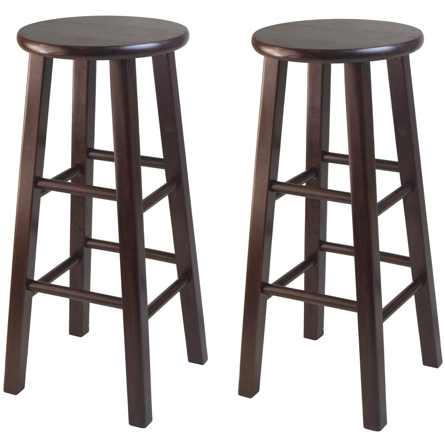 Pacey 29 Counter Stool Set Of 2 Walnut Raven Furnishings
