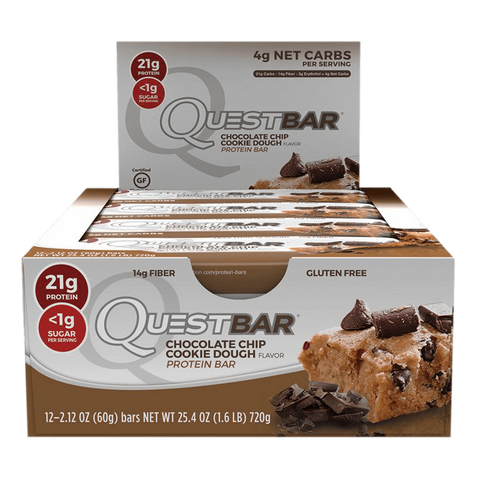 Quest Bars Chocolate Chip Cookie Dough (12 x 60g)