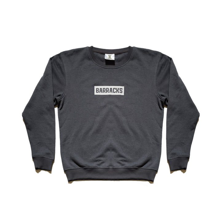 Classic Crewneck Boxed Wordmark GRAY