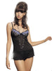 Sheer Babydoll with Lattice Edges and Embroidered Cups