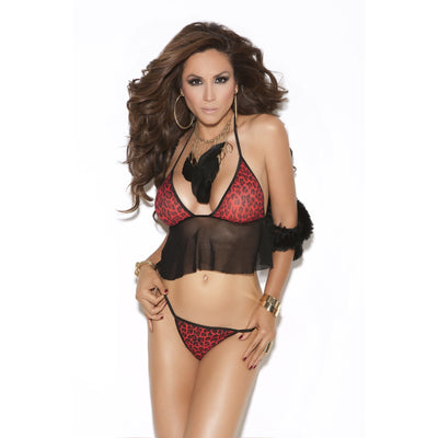 Red leopard Cami Top and Matching G-String