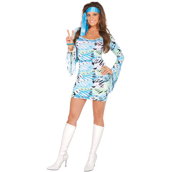 Retro Print Dress Costume