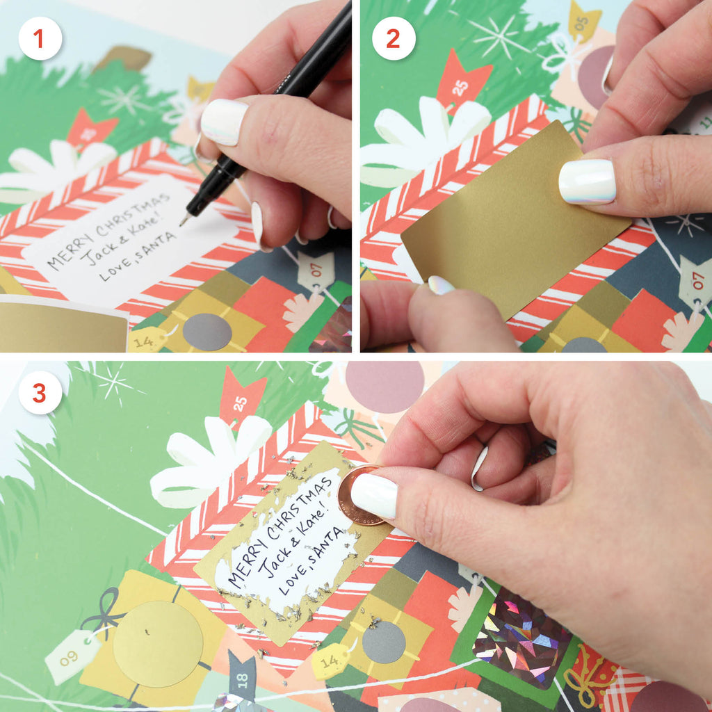 Scratch-off Advent Calendar