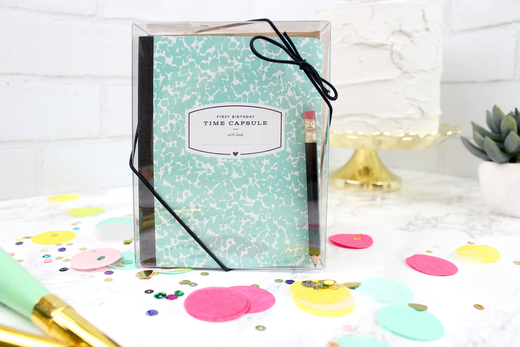 First Birthday Time Capsule - Teal