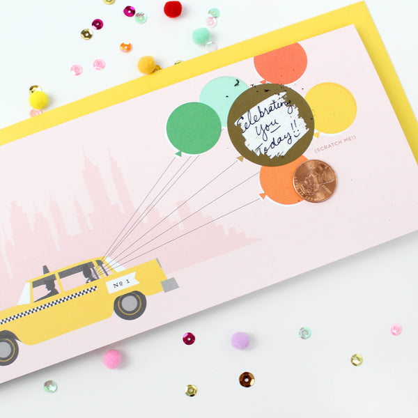 Taxi Scratch-off Card